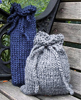 Free Knitting Pattern Gift Bag : Ravelry: Loom Knit Gift Bags pattern by Faith Schmidt