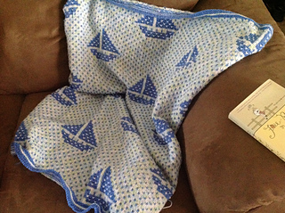 Sailboat Knitting Pattern Baby Blanket : Ravelry: Sail Boat Blanket pattern by Bernat Design Studio