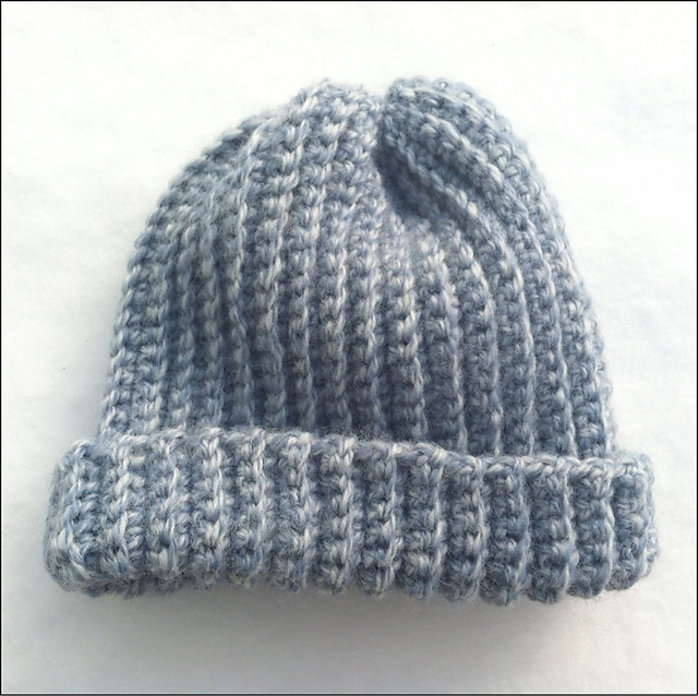 Textiles4you: Crochet Ribbed Baby Hat
