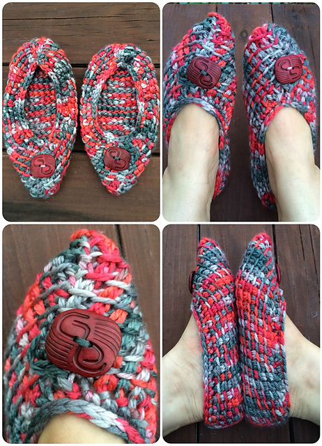 Textiles4you Tunisian Crochet Slippers