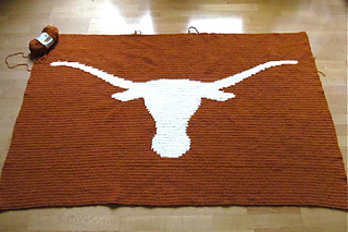 Crochet Pattern For Texas Longhorn Afghan : Ravelry: LBK63s Deannas Texas Longhorns Afghan