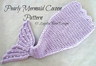 Ravelry: Pearly Mermaid Cocoon pattern by Lagatha Been