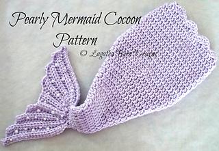 Free Crochet Pattern Mermaid Cocoon : Ravelry: Pearly Mermaid Cocoon pattern by Lagatha Been