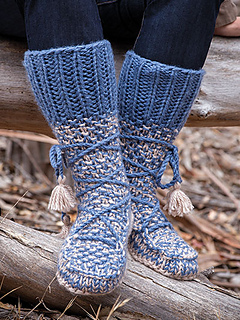 Free Babies Knitting Patterns : Ravelry: Mukluk Booties pattern by Lena Skvagerson