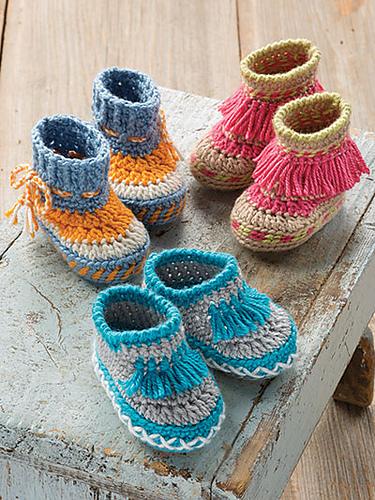 Baby Moccasins par Lena Skvagerson au crochet