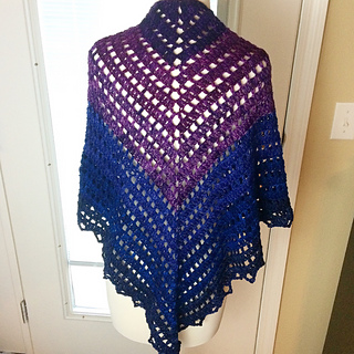 Simple Triangle Crochet Shawl Pattern : Ravelry: Simple Gradient Triangle Shawl pattern by Sew ...