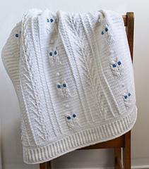 Ravelry Little Owl Baby Blanket Pattern By Julie Lapalme