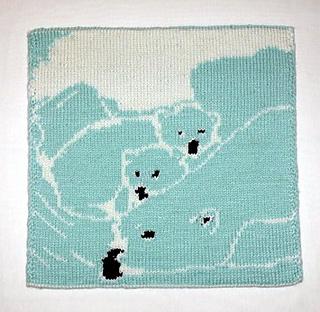 Ravelry Polar Bear Baby Blanket Double Knit Pattern By