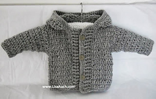 Ravelry: Boys Hooded Button Front Chunky Crochet Cardigan ...