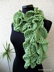 Crochet Pattern Lace Ruffle Scarf : Ravelry: Ruffle Lace Scarf Tutorial pattern by Lyubava Crochet
