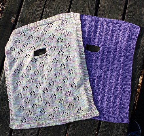 Two Infant Car Seat Blankets To Knit Pdf At Fiberwild Knitting