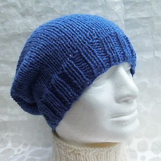 Beanie Knitting Pattern Straight Needles : Ravelry: CHARLEY Simple Slouchy Beanie Knit on Straight Needles pattern by An...
