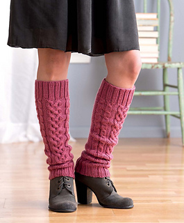 Ravelry: Climbing Vines Cabled Leg Warmers pattern by Debbie ONeill