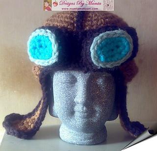 Ravelry: Aviator Hat With Goggles pattern by Mamta Motiyani