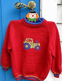 Strikkeoppskrift genser med traktor