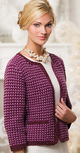 Ravelry: Radiant Tweed Cardi pattern by E. J. Slayton
