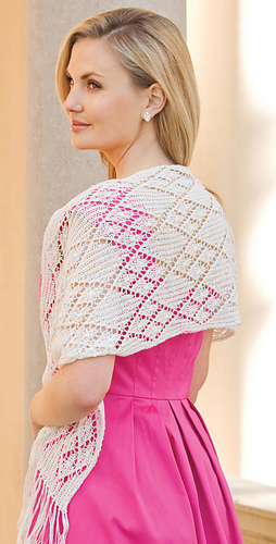 Ravelry Wrapped Diamonds Stole Pattern By Lois Young