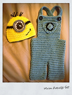 Free Crochet Pattern Minion Overalls : Ravelry: Minion Overalls Set pattern by Me & Morning Glory