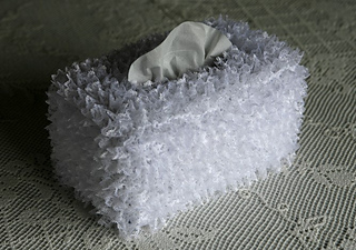 Knitting Pattern Tissue Holder : Ravelry: Tissue Box Cover with Knitted-in Lace pattern by ...