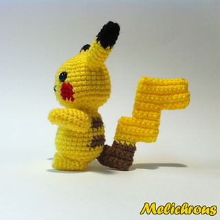Crochet Pattern For Pikachu : Ravelry: Pikachu Pattern Crochet Amigurumi PDF pattern by ...
