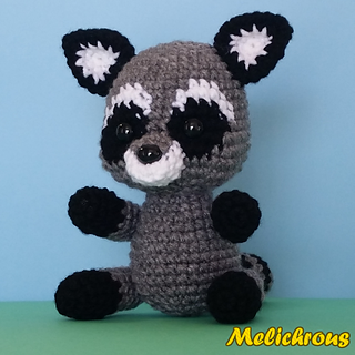 Amigurumi To Go Raccoon : Ravelry: Razz the Raccoon Pattern Crochet Amigurumi PDF ...