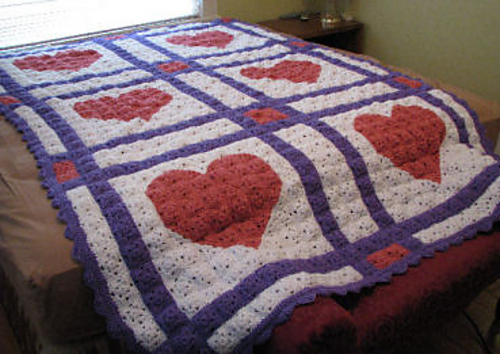 Free Crochet Patterns For Quilts : Love Letters Crochet Quilt Free Crochet Patterns