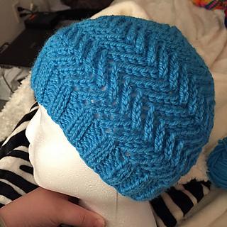 Zig Zag Hat Knitting Pattern : Ravelry: Zig Zag Hat pattern by Emily Dormier