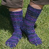 Bluebell Rib Socks  PDF