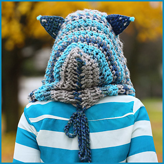 Cheshire Cat Amigurumi Pattern : Ravelry: Cheshire Cat Hoodie pattern by Nadia Fuad