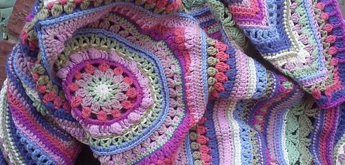 Mandala Yarn Crochet Patterns Blanket