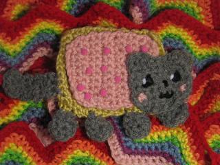 Nyan Cat Amigurumi Free Pattern : Ravelry: Nyan Cat Scarf by NiklSaurus pattern by Nichole ...