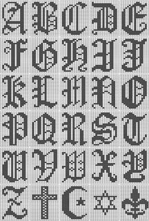 Ravelry Filet Crochet Alphabet Script Chart Pattern By
