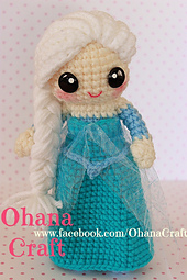 Amigurumi Elsa Y Ana : Ravelry: Snow Princess crochet pattern pattern by ohana craft