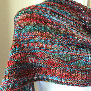 Ravelry Stitch Sampler Shawl Pattern By On This Day Designs