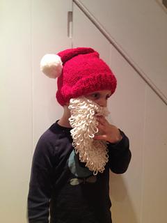 Ravelry: Little Santa hat & beard pattern by Karen Wall
