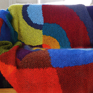 ravelry plaid en tricot sonia delaunay pattern by. Black Bedroom Furniture Sets. Home Design Ideas