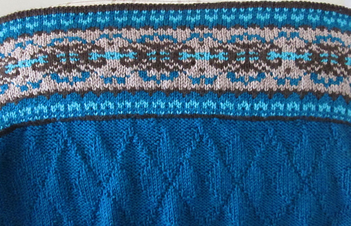 Knitted Baskets Free Patterns : Ravelry: Fair Isle Border Blanket and Pillow (Blanket) pattern by Patons