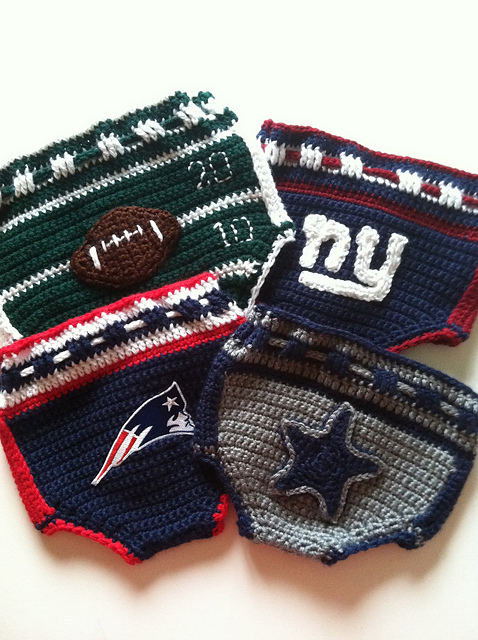 Football Inspired Diaper Covers by Maria Bittner ($4.99)