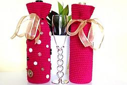 POODLE BOTTLE COVERS To Knit Or Crochet! FUN Pattern!   eBay