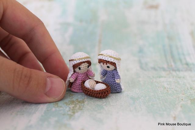 crèche crochetée Miniature Nativity par Diana Moore