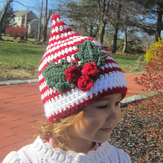 Elf Beanie Knitting Pattern : Ravelry: Santa s Helper Elf Hat pattern by Catherine Potenza