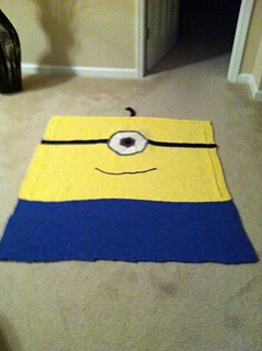 Ravelry: Mischievous Minion Throw Blanket pattern by Janet Jameson