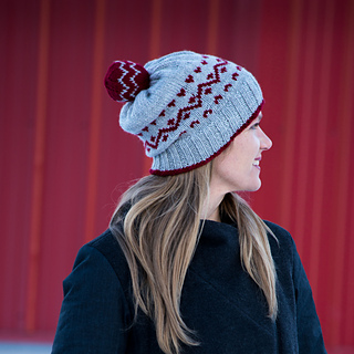 Pomball Zig knitting hat pattern worsted colourwork