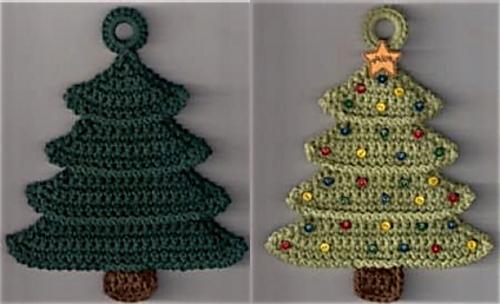 Free Crochet Patterns Christmas Potholders : Ravelry: Christmas Tree Potholder pattern by Priscilla Hewitt