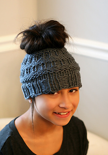 Ravelry Messy Bun Hat Iii Pattern By Isela Phelps