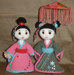 Amigurumi Geisha Tutorial : Ravelry: Amigurumi Geisha pattern by Sandra ?hlberg