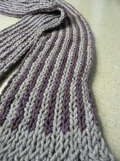 Knit Hat Patterns With Ear Flaps : Ravelry: Loom Double Knit Striped Scarf #L10025 pattern by Lion Brand Yarn