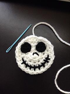 Free Crochet Pattern For Jack Skellington : Ravelry: Jack Skellington Applique pattern by Katrina Payne