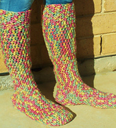 Free Crochet Patterns For Knee High Socks : Ravelry: Chunky Knee-High Boot Sock pattern by Sarah Lora