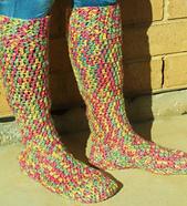 Free Crochet Patterns For Knee High Socks : Ravelry: Chunky Knee-High Boot Sock pattern by Sarah Lora
